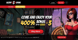 Agent Spins Casino Bonus