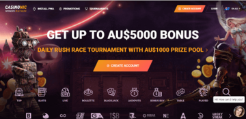 casinonic casino homepage