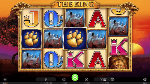 the king slot rating
