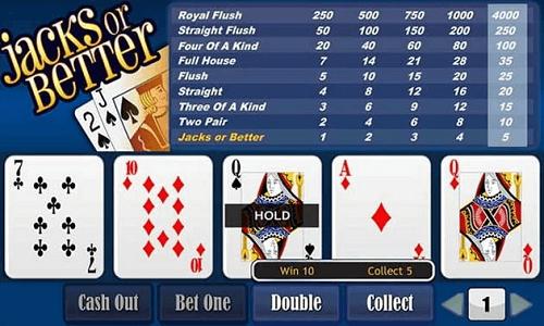 video poker versions